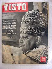VISTO - N. 45 - INCORONAZIONE PAPA GIOVANNI XXIII RIVISTA