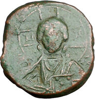 JESUS CHRIST Class A2 Anonymous Ancient 1028AD Byzantine Follis Coin  i33524