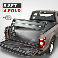 5ft Tri Fold Soft Truck Bed Tonneau Cover For 04 12 Chevy Colorado Gmc Canyon Ebay
