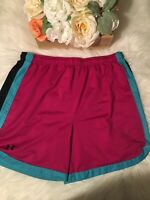 Womens Under Armour Heat Gear Loose Fit Athletic Shorts Running Sz Medium M EUC