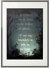 "Harry Potter Quote ""Turn on the light''  - Vintage Childrens Nursery Print Art"