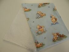 Burp Cloth - Pooh and Friends - Blue - 1 Only Toweling Back GREAT GIFT IDEA