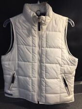 NWT ABERCROMBIE & FITCH WHITE  PUFFER VEST JACKET SIZE M Performance Gear