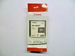 Original Canon PFI-106GY iPF6300 iPF6350 iPF6400 iPF6450 Boxed 06/2018