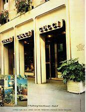 Publicité Advertising 028 1978 Boutique Gucci Paris d3ce58cc74a