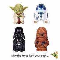 Star Wars Flashlight 4-Pack Chewbacca Yoda R2-D2 and Darth Vader