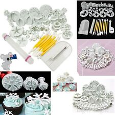 68pcs Fondant Cake Decorating Pastry Plunger Cutter Tools Flower Mold Mould Set