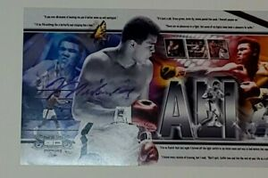 Muhammad Ali Autograph Panoramic Photo COA 51/200