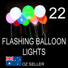 22  BALLOON LIGHTS   MULTI COLOUR  PARTY POOL LIGHT GLOW IN THE DARK