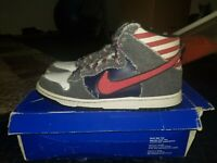 Nike Sb Dunk High Premium Born In The USA Size 12 4th Of July Bruce Springsteen