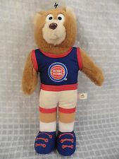 "Vtg 1993 DETROIT PISTONS 12"" Stuffed Plush Bear by GOOD STUFF Bad Boys NBA"