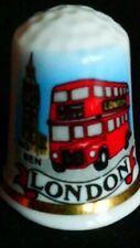 LONDON AEC ROUTEMASTER BUS SEPT 1954 BIG BEN CLOCK FINE CHINA SOUVENIR THIMBLE
