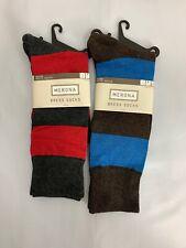 Merona Mens Blue Red Striped Dress Socks Sz 6-12 NEW 2 Pairs