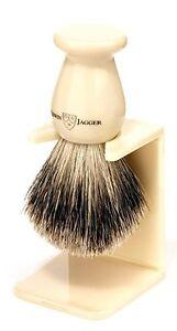 Edwin Jagger Imitation Ivory Best Badger Shaving Brush, Medium
