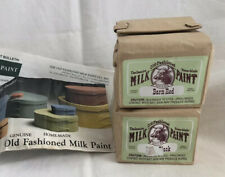 Old-Fashioned Milk Paint Barn Red & Pitch Black Powder Makes 1 Pint Each