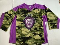 Reading Royals Purple And Camo Promo Hockey Jersey SGA ECHL Mens 2XL