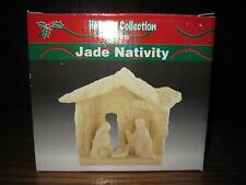 Holiday Collection Gifts Jade Porcelain Nativity Table Top Stable Scene