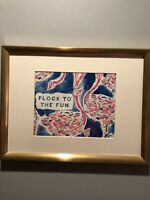 Lilly Pulitzer Framed Print In Gold Frame
