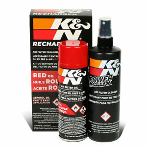 K&N99-5000 Air Filter Cleaning Cleaner Oil Recharger Combo Kit