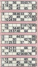 12000 Bingo Tickets 12 to View Flyers Singles Quickies
