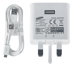 Samsung Fast Mains Charger Plug + Fast Cable For Samsung Type C/Micro USB Phones
