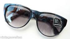 Eschenbach Damen Schmetterlings Sonnenbrille Kunststoff schwarz gemustert size L