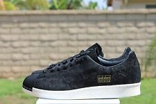 ADIDAS ORGINALS SUPERSTAR 80 'S CLEAN SZ 9 CORE BLACK OFF WHITE S82508