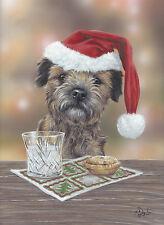 Border Terrier, Christmas cards pack of 10 Santa's Lilltle Helper C419X