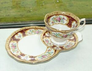Royal Albert Lady Hamilton Breakfast Tennis Set Cup and Tray 1st Quality