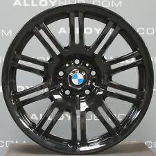 "GENUINE BMW M3 E46 STYLE 67M BLACK 19"" INCH 10 DOUBLE SPOKE ALLOY WHEELS X4"