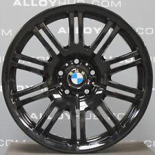 "GENUINE BMW M3 E46 67M GLOSS BLACK 19""INCH 10 DOUBLE SPOKE ALLOY WHEELS X4"