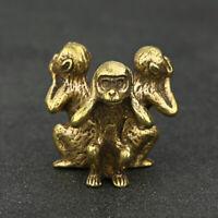 Brass Monkey Figurines Small Monkey Statue House Decoration Animal Figurines