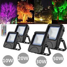 RGB LED Proyectores 10W 20W 30W 50W Foco Jardín Exterior de Construcción Faro