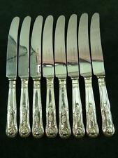 8 Nice Vintage Eben Parker EPNS Dessert Side Knives kings pattern silver plated
