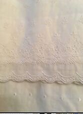 Simply Shabby Chic White Embroidered Batiste Balloon Window Valance New WOT
