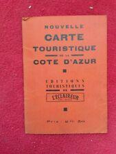 Carte plan 1960env/CARTE TOURISTIQUE DE LA CÔTE D'AZUR/ed l'Eclaireur