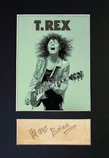 More details for #485 marc bolan t-rex reproduction signature/autograph mounted signed photograph