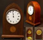 A 1930 belle pendule pendulette 23cm1.1kg bois acajou marquèterie art déco chic