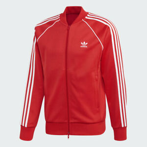 NWT Adidas Original Superstar Track Jacket - Medium (FM3809) Lush Red/White