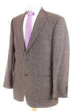 M&S COLLEZIONE BROWN WOOL & LINEN MEN'S SPORTS JACKET 40R DRY-CLEANED