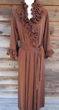 Vintage 1960~70s Mod David Brown of California Ruffled House Robe Size Medium