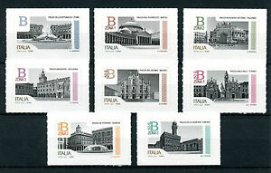 Italy 2016 MNH Piazzas 8v S/A Set Architecture Stamps