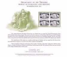 Bep B23 Souvenir Card Compex '73 #245 Columbus Vignette Blk/4 Mint