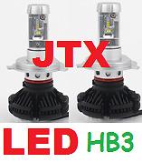 1 pr HB3 9005 JTX LED Globes Bulbs 12v 24v 6000 Lumen 50w