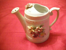 Vintage Schmid Brothers Ceramic Watering Can Music Box with Floral Motif