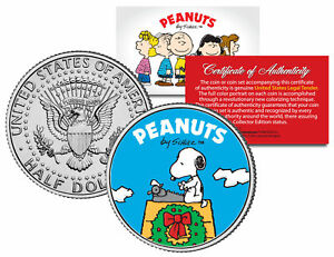"Peanuts ""Snoopy Christmas Wreath"" JFK Half Dollar U.S. Coin *Licensed*"