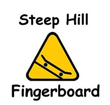 Steep Hill FB,New 34mm Faded Blue Fingerboard Deck, 2 Grip Tape,2 Stickers