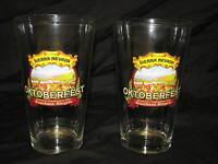 2 Sierra Nevada Oktoberfest Beer Pint Glasses Pair Brauhaus Riegele New Glass 2