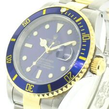 Rolex Steel and Gold Rolesor Submariner Date Watch - Blue Dial - 16613 BLU