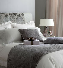 Luxury Stone / Taupe Single Duvet Cover Set 100% Cotton Sateen 300 Thread Count